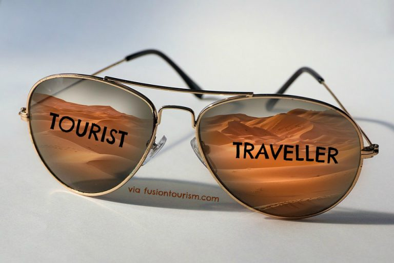 Tourist vs. Traveler Infographic