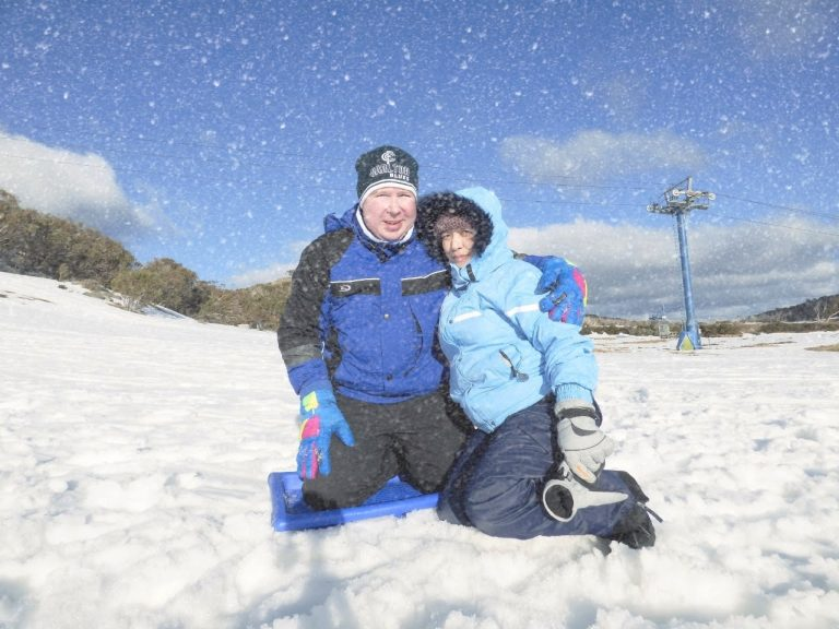 Tobogganing at Mount Buffalo in Early Spring Sept 2017